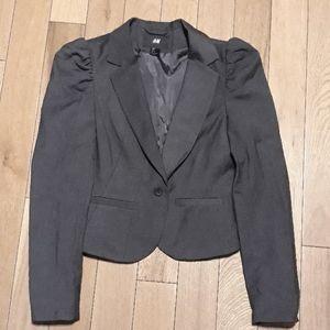 H&M Charcoal Blazer with Shoulder Detail